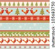 seamless Christmas pattern .seamless pattern with New Year's. - stock vector