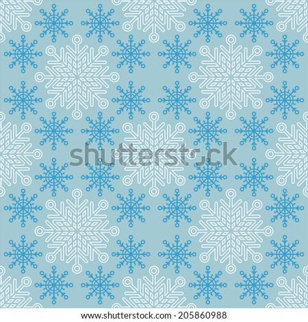 Seamless Christmas pattern with snowflakes for textiles, interior design, for book design, website background