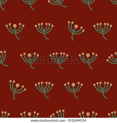 Seamless Christmas Vector Pattern.
