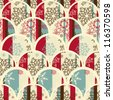 Seamless christmas wrapping paper, - stock vector