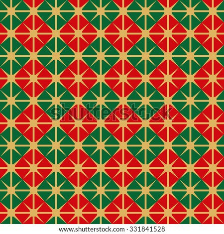 Seamless Christmas Wrapping Paper pattern - stock vector