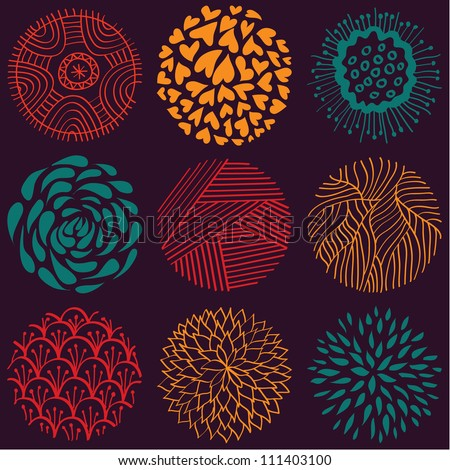 Seamless circle pattern - stock vector