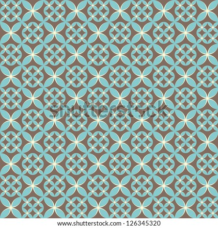 Seamless circle vintage flower pattern  background - stock vector