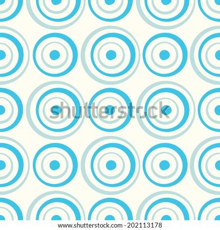 Seamless circles background pattern illustration - stock vector