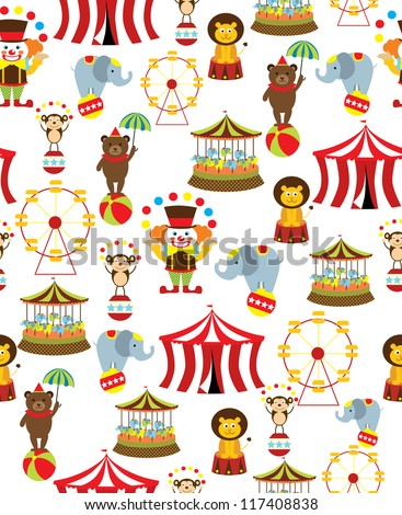 seamless circus background. vector illustration - stock vector