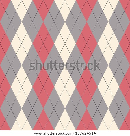 Seamless classical argyle pattern. Can be used for wallpaper, pattern fills, web page background,surface textures - stock vector