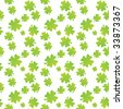 Seamless clover leaf fabric textures - stock vector