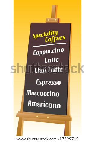 Seamless Coffee Menu Board, Template. Vector. For more illustrations VISIT MY GALLERY. - stock vector