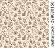 Seamless Coffee Pattern - stock vector