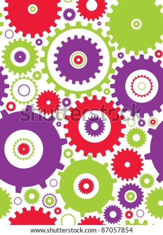 seamless cogs repeat pettern - colours 1