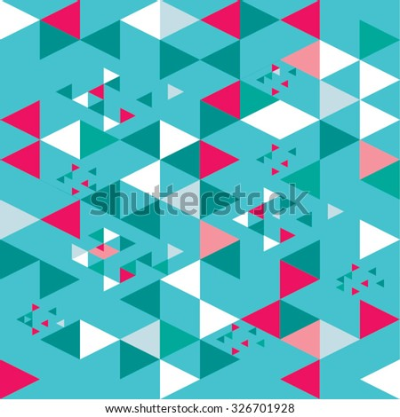 Seamless color geometric triangle pattern. Abstract background
