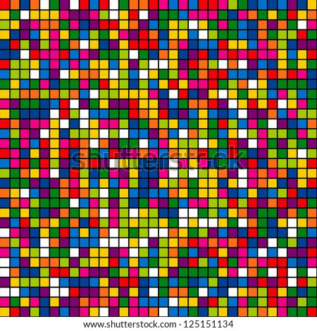 Seamless color mosaic background. Vector illustration. - stock vector