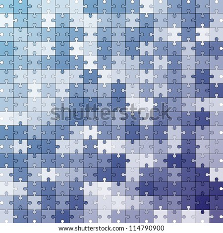 Seamless color puzzles  vector background - stock vector