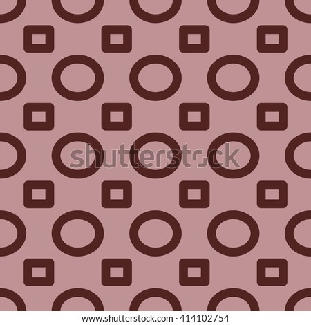 Seamless colorful abstract modern pattern created from circles and rectangles