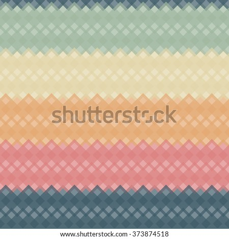 Seamless colorful abstract modern pattern created from square intersections