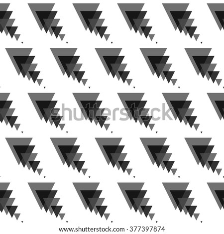 Seamless colorful abstract modern pattern created from triangles