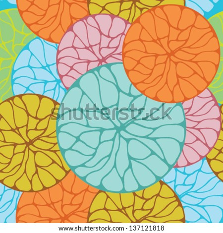 Seamless Colorful Circle Pattern Design - stock vector