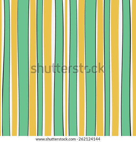 Seamless colorful doodle pattern. Geometric Modern Background with waves and lines