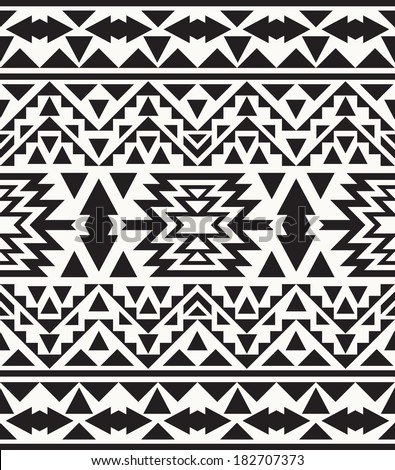 Seamless Colorful Navajo Pattern  N