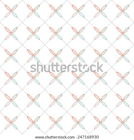 Seamless colorful pattern, repeating pattern, vector background - stock vector
