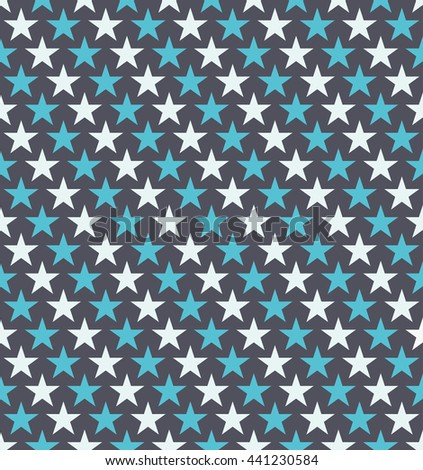 Seamless Colorful Star Pattern. Ideal for gift wrapping paper. - stock vector