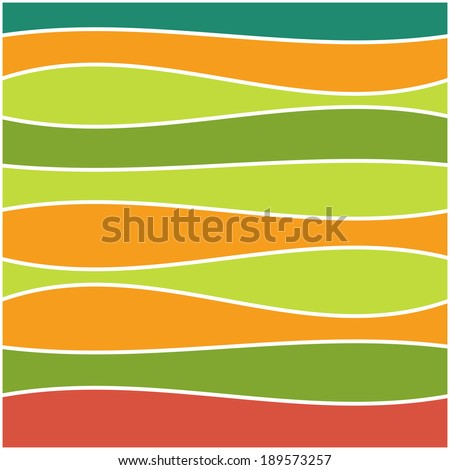 Seamless colorful striped wave background. Vector illustration