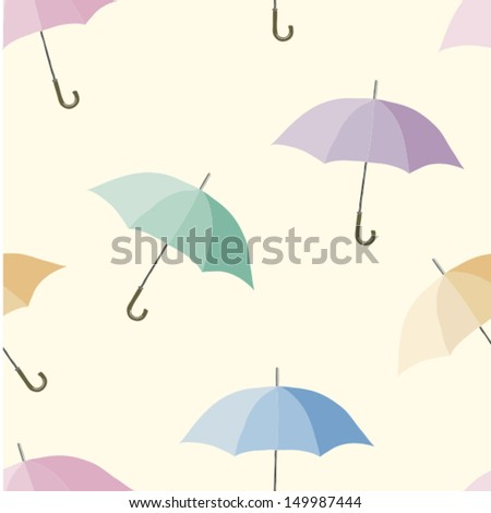 Seamless colorful umbrellas