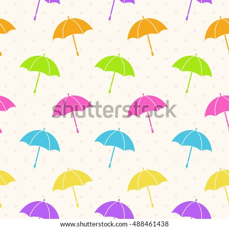 Seamless colorful umbrellas background.