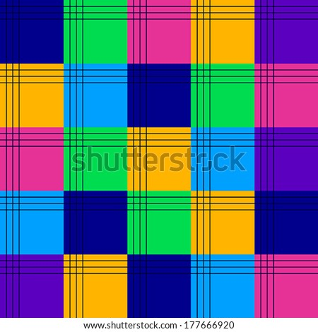Seamless colourful square background. - stock vector