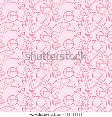 Seamless creative hand-drawn pattern of circles elements. Vector illustration.