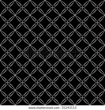 Seamless crisscross pattern. Vector. - stock vector