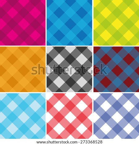 Seamless Cross weave Gingham Pattern. Vector. Any size - stock vector