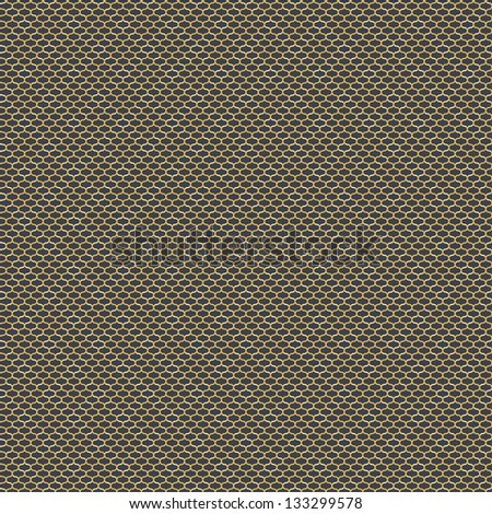 Seamless curl grid background pattern - stock vector