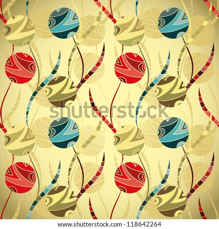 Seamless cute pattern, wrapping paper