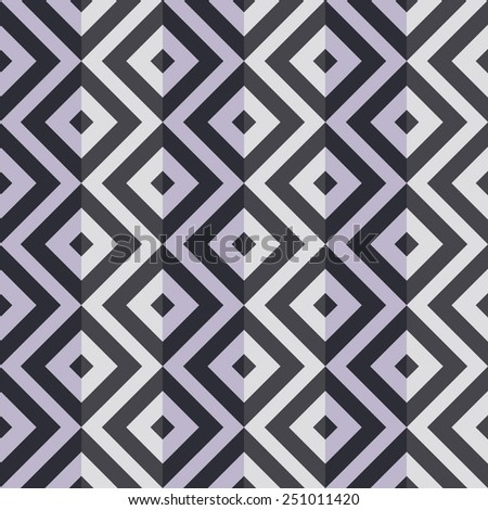 Seamless 3D pattern with squares - stock vector