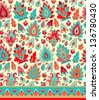 Seamless damask pattern - stock