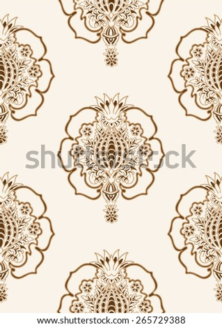 Seamless damask pattern in vector  - stock vector