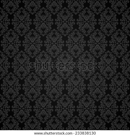 Seamless damask pattern. Ornamental background with pattern