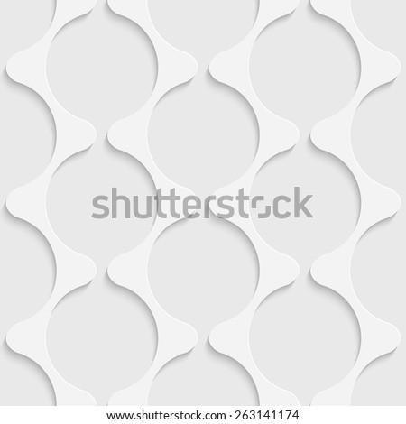 Seamless Damask Pattern. Vector Soft Background. Regular White Texture - stock vector