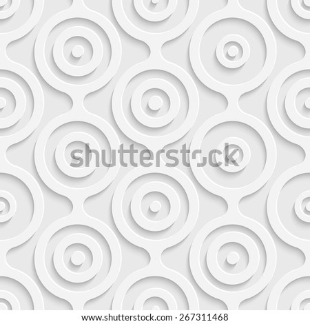 Seamless Damask Pattern. Vector Soft Background. Regular White Texture - stock vector