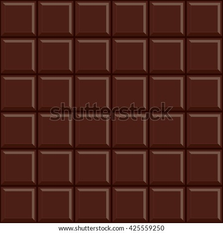Seamless dark chocolate bar pattern background.