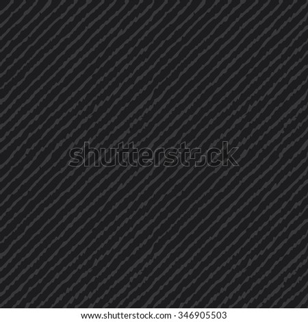 Seamless dark gray ikat diagonal lines hand drawn endless textile pattern vector