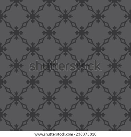 Seamless dark gray vintage revival geometric pattern vector - stock vector