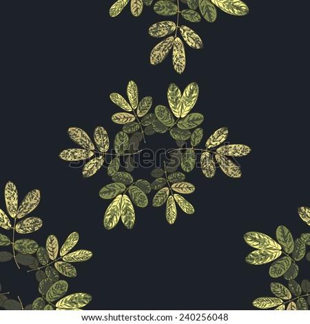 seamless dark tropical pattern.  very dramatic - stock vector