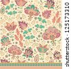seamless decorative floral pattern - stock vector