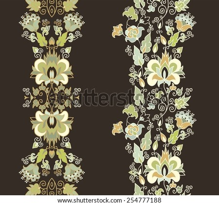 Seamless decorative oriental vector pattern - stock vector