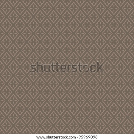 Seamless delicate geometric pattern. Vector harlequin background - stock vector