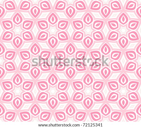 Seamless delicate pink vector background. Collection of different backgrounds. - stock vector