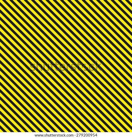 Seamless diagonal background caution pattern - vector illustration - stock vector