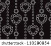 Seamless diamond pattern. Black and white. Vector illustration - stock vector